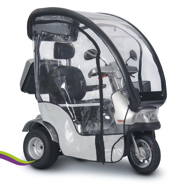 Breeze S3 brede wielen canopy en regenscherm