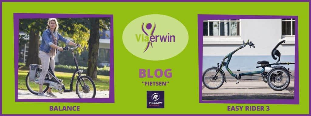 """De Van Raam fietsen Balance en Easy Rider beschreven in Blog """"Fietsen"""" van Viaerwin"""